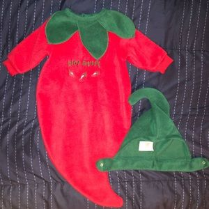 Halloween Baby Costume - Red Chili with Green hat!